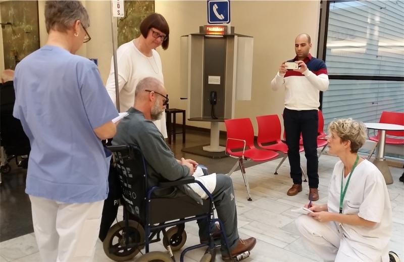 En ögonöppnare när Sös medarbetare fick agera patienter