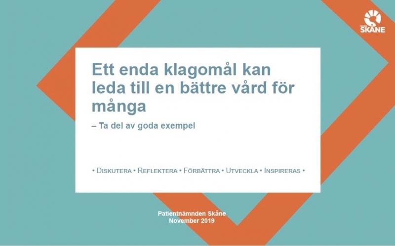 Så använder Region Skåne klagomål i förbättringsarbetet
