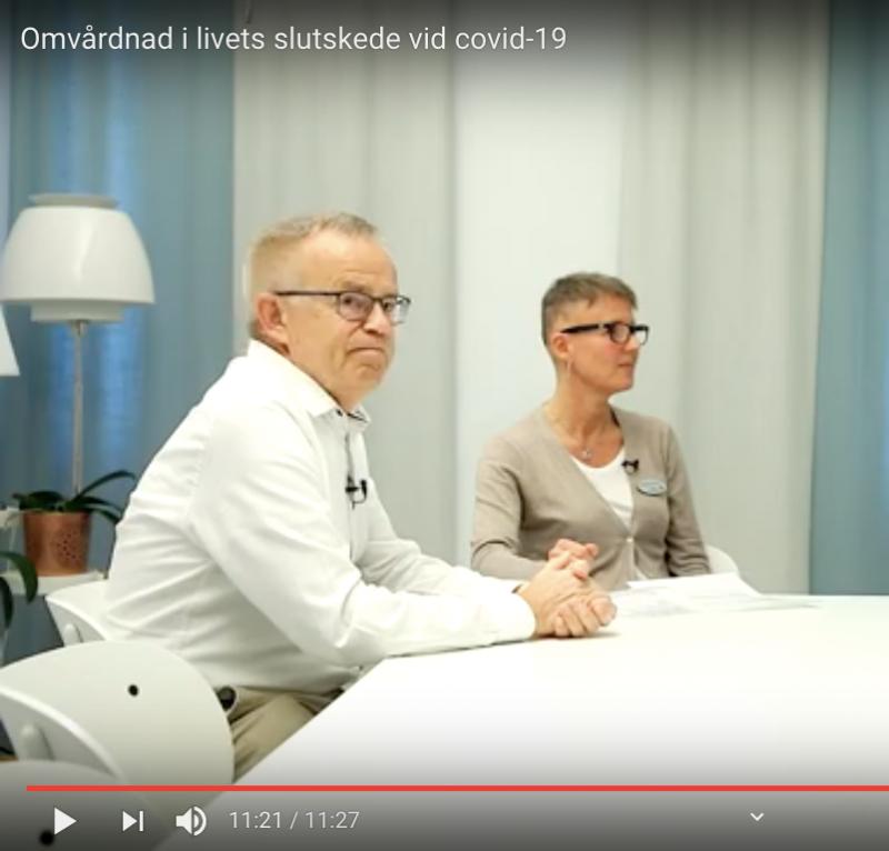 Råd om palliativ vård vid covid-19